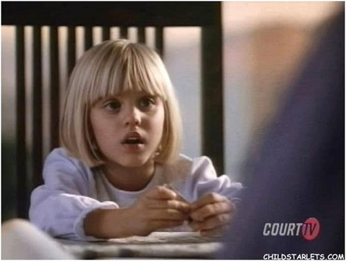 Kaley Cuoco as a child
