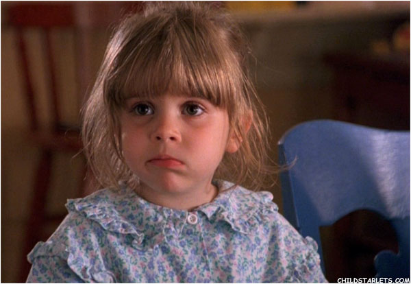 Mae Whitman as a child