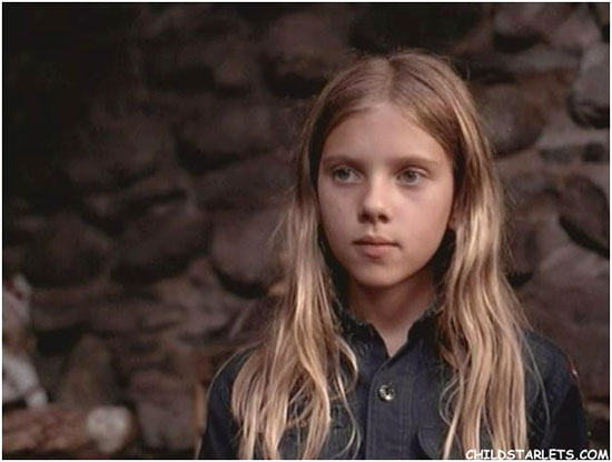Scarlett Johansson as a kid