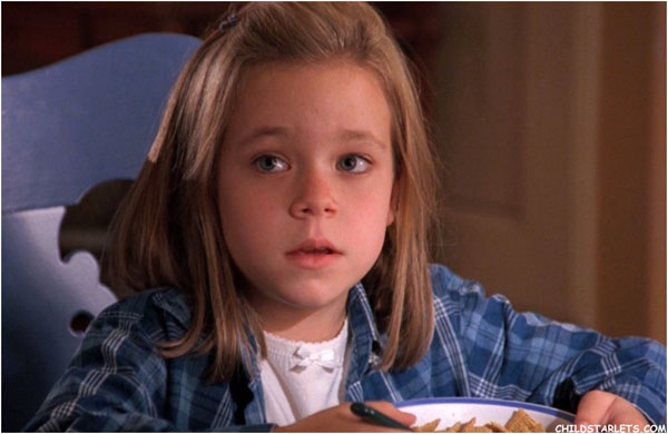 Tina Majorino as a child